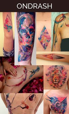 beautiful watercolor tatts