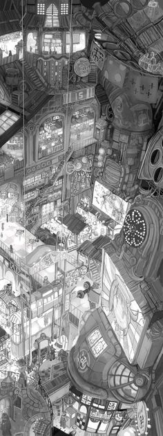 The city. ✤ || CHARACTER DESIGN REFERENCES | キャラクターデザイン | çizgi film • Find more at https://www.facebook.com/CharacterDesignReferences & http://www.pinterest.com/characterdesigh if you're looking for: bande dessinée, dessin animé #animation #banda #desenhada #toons #manga #BD #historieta #sketch #how #to #draw #strip #fumetto #settei #fumetti #manhwa #cartoni #animati #comics #cartoon || ✤