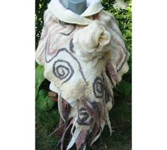 Felt CapeFelt ShawlEuropean Wrap CapeWoman Cape Wool by RumiWay, $77.00