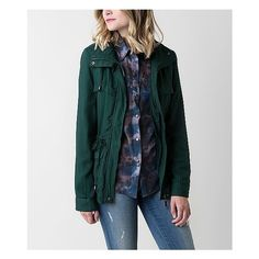 Ashley Light Jacket ($50) ❤ liked on Polyvore featuring outerwear, jackets, green, zip jacket, green jacket, zipper jacket, snap front jacket and ashley jacket