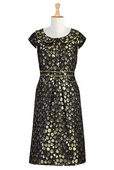 Golden daffodils sheath dress, #eShakti, Customize to your size and style for FREE