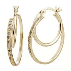1/10 CT. Diamond Hoop Earrings In Sterling Silver With Yellow Gold Plating FineDiamonds9. $49.99. Jewelry Gift Box Included. Nickel Free 925 Sterling Silver with Rhodium Plating. All our diamonds are conflict-free diamonds. Yellow Gold Plated Over Sterling Silver. Save 76% Off!