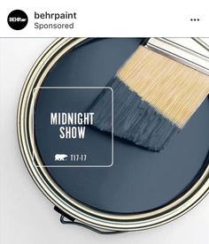 Deep and mystical, Behr's Bon Nuit is inspired by the midnight summer sky on a clear night. This indigo shade embodies the bliss of that perfect evening, whether you're sitting around a campfire or strolling from hotspot to hotspot on the weekend.