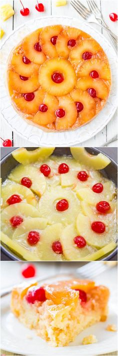 The Best Pineapple Upside-Down Cake - So soft, moist  really is The Best! A cheery, happy cake that's sure to put a smile on anyone's face!