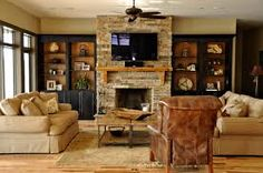 built-ins around fireplace - Google Search
