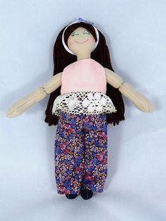 Girl Doll With Brown Hair  Toy Dress Up Doll  For Kids