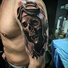Tattoo by @neonjudas in Berlin, Germany #neonjudas #berlin #germany #skull…