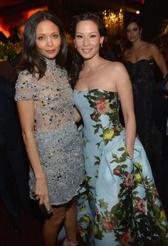 Thandie Newton & Lucy Liu - 2013 InStyle and Warner Bros. 70th Annual Golden Globe Awards Post-Party