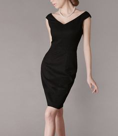 Finaly I found my classic black dress =) Black Dress Cotton dress Summer by fashiondress6 on Etsy
