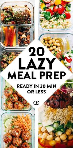 Recipes Breakfast Lunch These 15 meal prep for the week are healthy and super easy to try for beginners! AMAZING recipe ideas ready in 30 minutes or less! So good to prep for breakfast, lunch, and dinners! Easy Healthy Meal Prep, Easy Healthy Recipes, Healthy Snacks, Healthy Eating, Healthy Meal Prep Lunches, Weekly Lunch Meal Prep, Easy Healthy Lunch Ideas, Meal Prep Dinner Ideas, Healthy Meal Planning