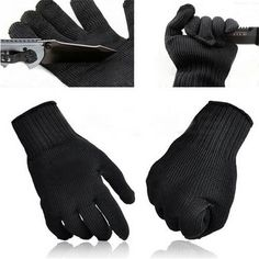 70737439568a ... safety work Suppliers  NEW Stainless Steel Wire Safety Work Anti-Slash  Cut Static Resistance Wear-resisting Protect Gloves Hand Safely Security  Black