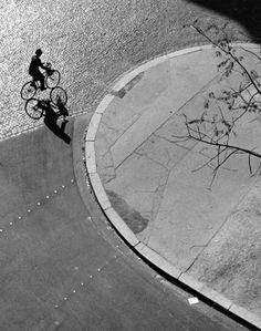 André Kertész (American (born Hungary), Budapest 1894–1985 New York) André Kertész / 'Man on bicycle, Paris', 1948