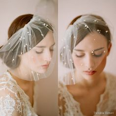 twigs and honey 2012 new collection tulle veil -- Twigs