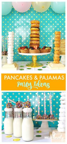Pancakes and Pajamas Party Ideas. Such a FUN party!! #GatherNow #ad