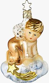 Inge Glass - On Heaven's Cloud - hand blown glass ornaments made in Germany by the same family for generations.