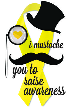 #endometriosis mustache ribbon!