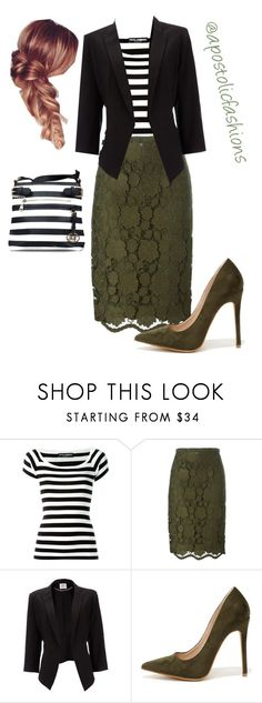 """Apostolic Fashions #1724"" by apostolicfashions ❤ liked on Polyvore featuring Dolce&Gabbana, N°21, Wallis and Shoe Republic LA"