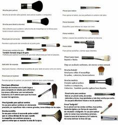 3ro. Aprender de los tipos de brocha o pinceles para realizar un buen maquillaje, aunque no los vayas a usar todos.