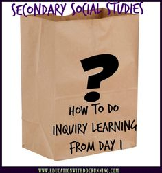 This is the best back to school activity I have ever done with students.  Skip the student inventory and set the tone for inquiry learning from day one.  Read how to use in your classroom in this post.