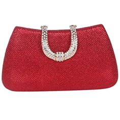 Fawziya Initials Glitter Purses For Women Hard Case Evening Clutch BagRed ** You can get more details by clicking on the image.