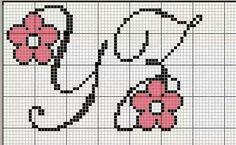 Cursive Fonts Alphabet, Alphabet And Numbers, Needlepoint Stitches, Needlework, Cross Stitching, Cross Stitch Embroidery, Baby Knitting Patterns, Stitch Patterns, Crochet Letters