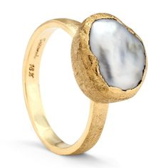 Keshi Pearl Ring, $1680 | 25 Stunning Engagement Rings That Aren't Made With Diamonds