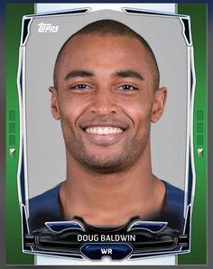 Doug Baldwin Seattle Seahawks Green Parallel Card 2015 Topps HUDDLE