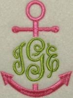 Anchor Frame Embroidery Designs | Apex Embroidery Designs, Monogram Fonts & Alphabets