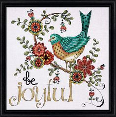 Design Works - Be Joyful, Counted Cross Stitch Kit, NEW