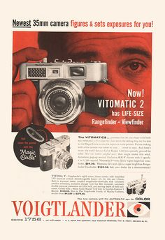 RETRO VOIGTLANDER CAMERA Ad Retro Camera Ad by EncorePrintSociety