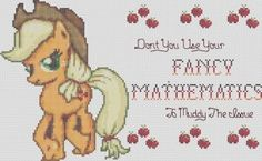 APPLEJACK My Little Pony Cross Stitch Pattern PDF Format