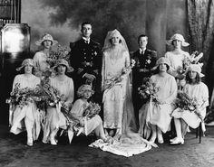 Lord Mountbatten's wedding in 1922 1920s Wedding, Wedding Bride, Wedding Day, Royal Brides, Royal Weddings, Vintage Weddings, Wedding Vintage, Elizabeth Ii, Louis Mountbatten