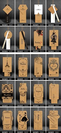 New Fashion Logo Design Inspiration Hang Tags Ideas Brand Packaging, Packaging Design, Branding Design, Scarf Packaging, Paper Packaging, Clothing Logo, Clothing Labels, Clothing Hang Tags, Custom Paper Bags