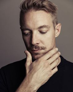 @Diplo had his portrait taken backstage at #iHeartRadio Fest! : @austinhargrave