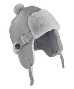 b2f7ece46aed1 Elks   Angels Dove Gray Shearling Trapper Hat