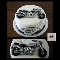 Motorbike cake. Motorbike cake topper.