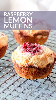 Raspberry Lemon Muffins. Lemon muffins with plenty of lemon zest stuffed with jammy raspberry bellies. A delicious breakfast or brunch! Perfect for a lazy weekend morning baking project! Lemon Raspberry Muffins, Lemon Muffins, Oat Muffins, Fast Healthy Breakfast, Sweet Bread, Scones, Chocolate Chip Cookies, Recipe Ideas, Lazy