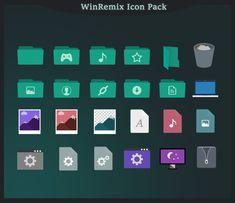 WinRemix Icon Pack for Windows 10 by unisira.deviantart.com on @DeviantArt