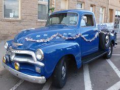 1954 Chevy Truck, Chevy Trucks, Cute Cars, Deck, Farmer, Vehicles, Front Porches, Farmers, Car