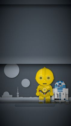 iPhone 5 Optimized C3PO & R2D2 wallpaper.