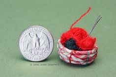 Learn To Weave Using These  Easy Miniature Projects: Coil a Simple Rag Basket in Miniature