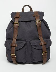ASOS Military Backpack In Navy With Contrast Straps