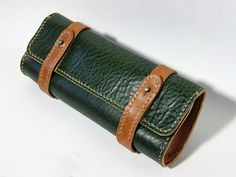 Leather Pen Case. Nice work, etsy person.