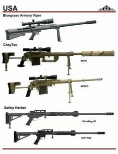 США: Bluegrass Armory Viper, CheyTac M200, ...