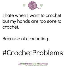 AllFreeCrochetAfghanPatterns - of Free Crochet Afghan Patterns Knitting Humor, Crochet Humor, Funny Crochet, Knitting Quotes, Knitting Ideas, Crochet Crafts, Crochet Yarn, Crochet Projects, Yarn Projects
