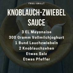"""Gefällt 12 Mal, 0 Kommentare - Fauli grillt (@fauli_grillt) auf Instagram: """"Küssen kann man ganz klar vergessen, wenn man diese Sauce probiert hat: Knoblauch-Zwiebel Sauce.…"""" Instagram, Salt N Pepper, Left Out, Crickets"""