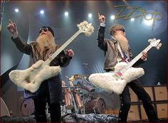 ZZ Top. If I can't ever grow an awesome beard like them, I at least want a furry bass!