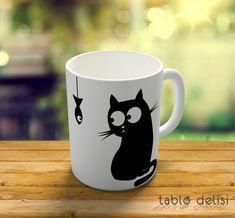 Şaşkın Kedi Porselen Kupa Bardak 20 TL