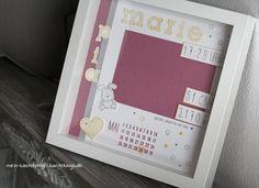 Newborn Baby Rahmen - personalisiertes Geschenk zur Geburt Foto Bunny