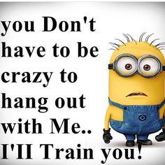 I'll train you, crazy!- minions